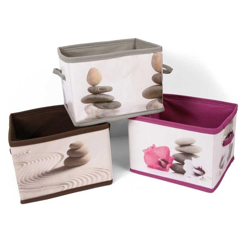 panier de rangement tissu zen boite de rangement zen. Black Bedroom Furniture Sets. Home Design Ideas