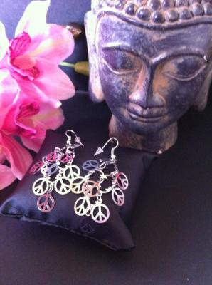 BOUCLES OREILLES PEACE AND LOVE