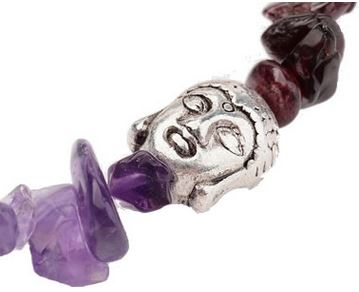 Bracelet baroque 7 chakras bouddha 1