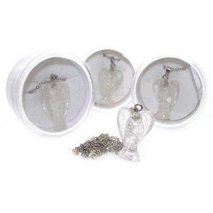 Chaine et pendentif ange cristal de roche