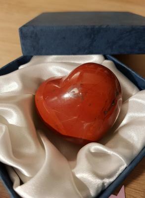 Coeur jaspe rouge 2