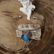 Love care for soul bracelet demi jonc