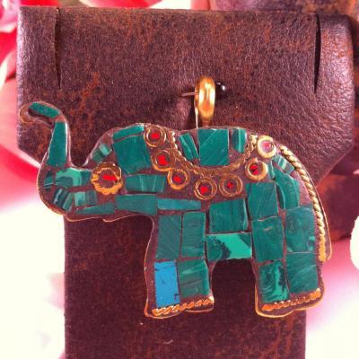 Malachite elephant 1a