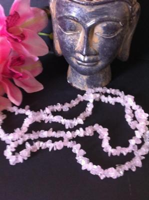 QUARTZ ROSE COLLIER 90CM