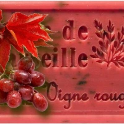 Savon de marseille vigne rouge